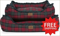 MacCormick Dress Tartan Plaid Kuddler Bed