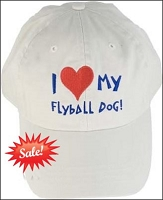 I Love My Flyball Dog Baseball Cap