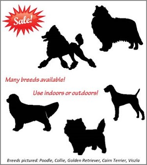 Silhouette Breed Magnet