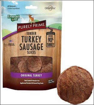 Emerald Pet Purely Prime Turkey Sausage