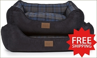 Crescent Lake Plaid Kuddler Bed