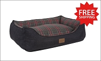 Grey Stewart Tartan Plaid Kuddler Bed