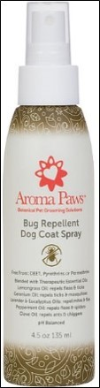 Aroma Paws Bug Repellent Dog Coat Spray